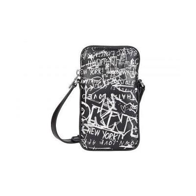 DKNY ダナキャランニューヨーク レディース 女性用 バッグ 鞄 バックパック リュック Erin North/South Phone Crossbody - Black/White Street Graffiti