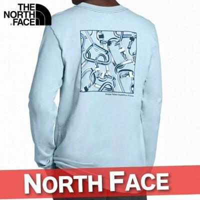 ノースフェイス ロングTシャツ ロンT 長袖 メンズ カラビナ バックプリント ポケット 丸首 アウトドア XS~XXL トップス 新作 NF2-1-005