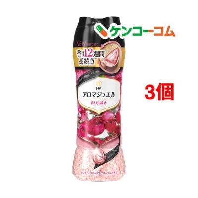 レノアハピネス アロマジュエル アンティークローズ&フローラルの香り 本体 ( 470ml*3個セット )/ レノアハピネス アロマジュエル