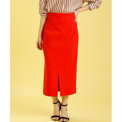 INED L/イネド(エルサイズ) 《大きいサイズ》ハイウエストタイトスカート《PONTETORTO》 レッド 13