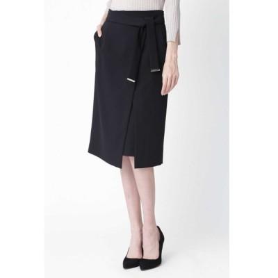 PINKY&DIANNE / [ウォッシャブル]メタルプレートベルト付ラップスカート