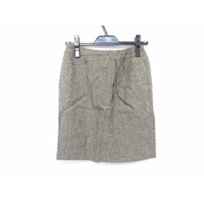 マルティニーク martinique スカート サイズ1 S レディース カーキ×黒【中古】