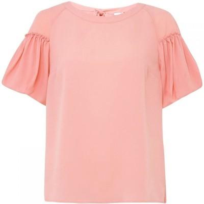 フレンチコネクション French Connection レディース トップス crepe light puff sleeve top Pink