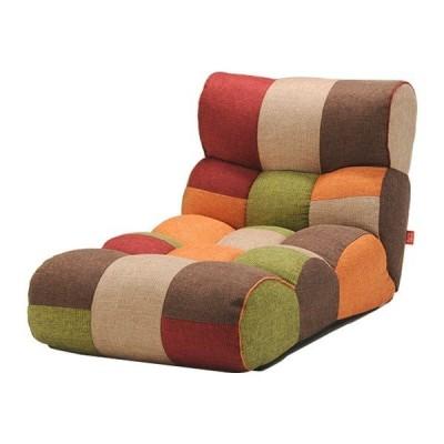 ソファー座椅子/フロアチェア 〔MULTI マルチ〕 ワイドタイプ 41段階リクライニング 『ピグレットJrロング』