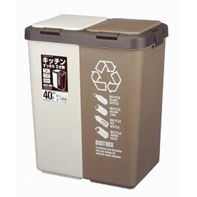 分別ゴミ箱 カラー分別ツインプッシュ 40L( ごみ箱 ゴミ箱 分別 ダストBOX くずかご ダストボックス )