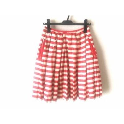 ミュベール MUVEIL スカート サイズ36 S レディース アイボリー×レッド ボーダー【中古】