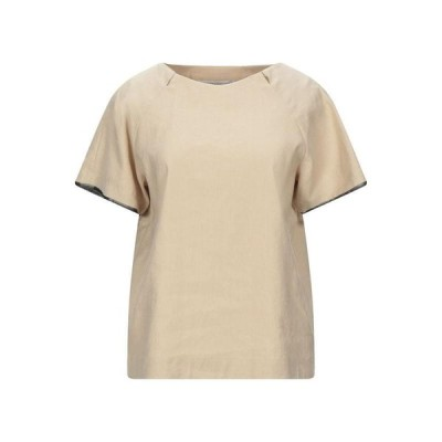 NEW YORK INDUSTRIE ブラウス  レディースファッション  トップス  シャツ、ブラウス  長袖 ベージュ