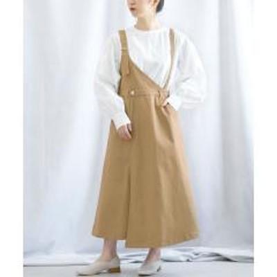 ANDJ(アンドジェイ)カツラギワンショルダージャンパースカート【お取り寄せ商品】