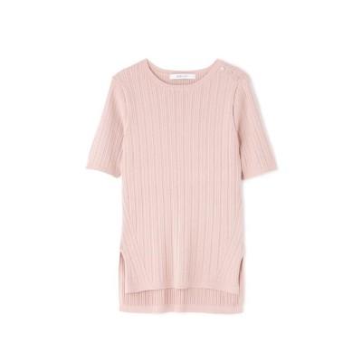 (BOSCH/ボッシュ)◆ランダムリブクルー半袖PO/レディース ピンク