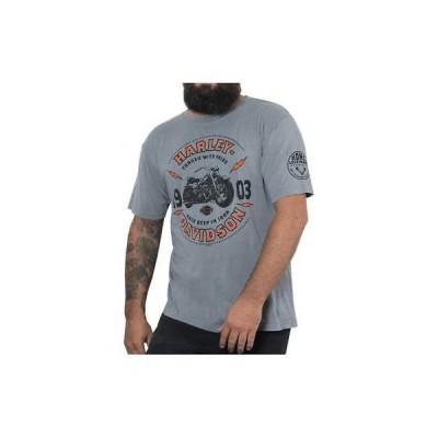 Tシャツ ハーレーダビッドソン Harley-Davidson Men's Primo Premium Short Sleeve T-Shirt, Stone Gray Wash