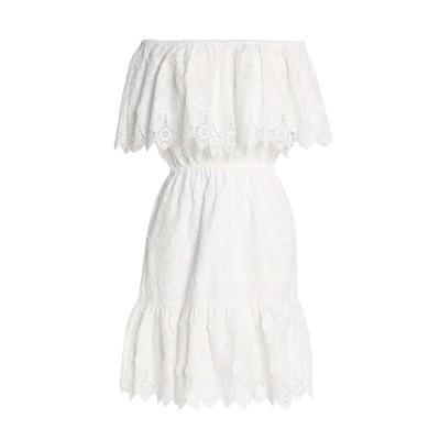 PERSEVERANCE ミニワンピース&ドレス ホワイト 10 コットン 100% / ポリエステル ミニワンピース&ドレス
