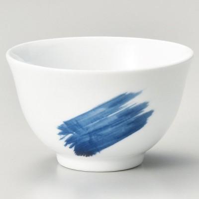 業務用食器 呉須刷毛反煎茶 φ8.6×5.2�(150�)