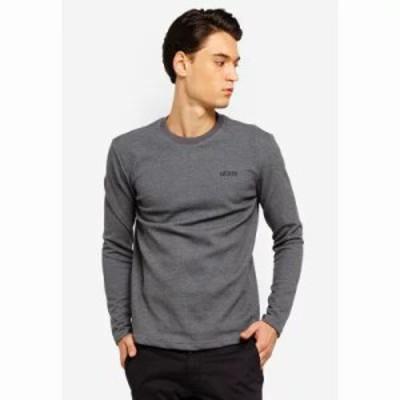 ゲス スウェット・トレーナー Name Logo Long Sleeve Sweatshirt Grey