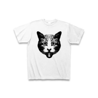 ねこもびっくり! Tシャツ(ホワイト)