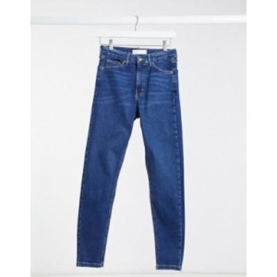 トップショップ レディース デニムパンツ ボトムス Topshop Jamie skinny jeans in rich blue Blue