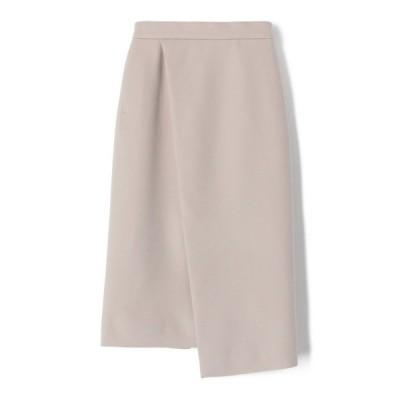 スカート ESTNATION / ウールカシミヤアシンメトリーラップスカート