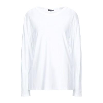 アン ドゥムルメステール ANN DEMEULEMEESTER T シャツ ホワイト 42 コットン 100% T シャツ