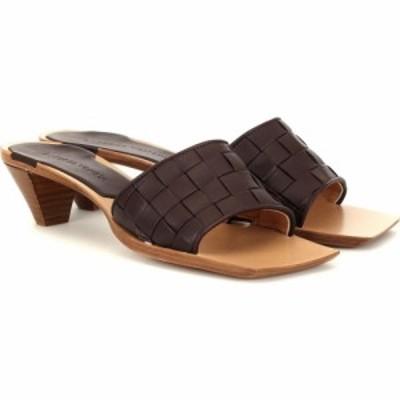 ボッテガ ヴェネタ Bottega Veneta レディース サンダル・ミュール シューズ・靴 Intrecciato leather sandals oxblood