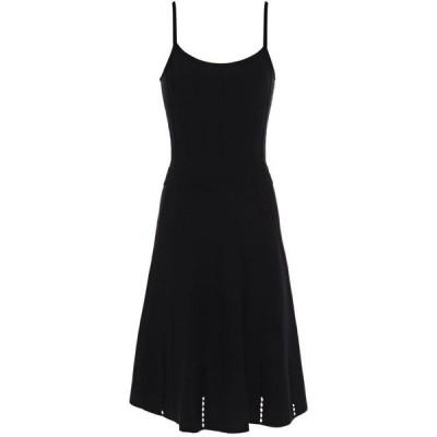サンドロ SANDRO レディース ワンピース ワンピース・ドレス winsley pointelle-trimmed stretch-knit dress Black