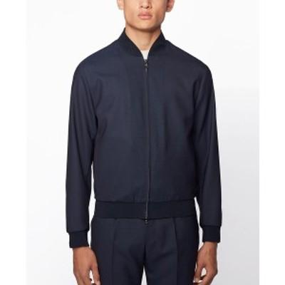 ヒューゴボス メンズ ジャケット&ブルゾン アウター BOSS Men's Nolwin Slim-Fit Blouson-Style Jacket Dark Blue