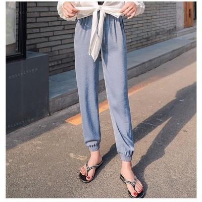 レギンスレディースパンツ6カラー対応夏柔らか素材夏最適足のび効果リラックスパンツ普段着