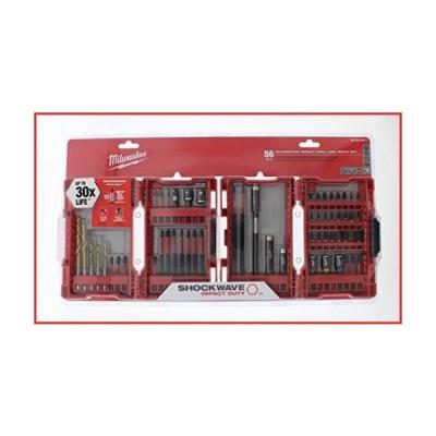 Milwaukee 48-32-4017 56 Piece Automotive Shockwave Kit 56 Piece automotive impact drill and drive set【並行輸入品】