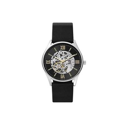 スカーゲン 22 mm Automatic Leather Watch メンズ 腕時計 時計 ファッションウォッチ Black