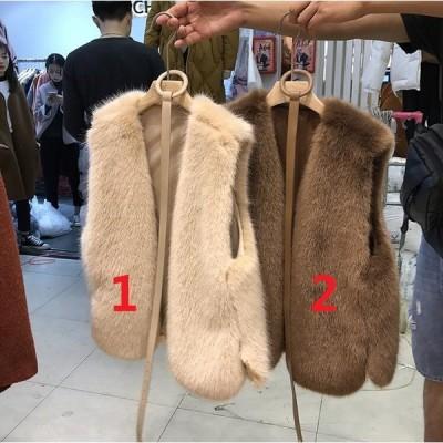 超レア 毛皮ベスト 人気 上質 コート 上着 ジャケット ファーコートレディース ベスト アウター おしゃれ  暖かい 秋冬 防寒