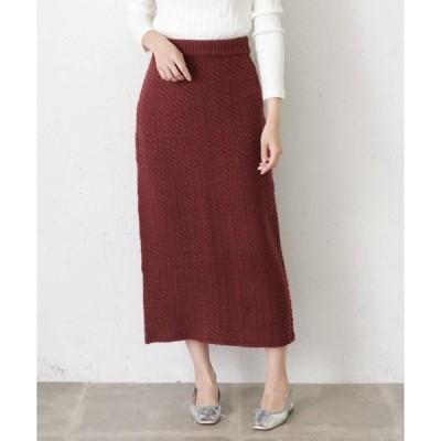 スカート ミニケーブルニットスカート∴