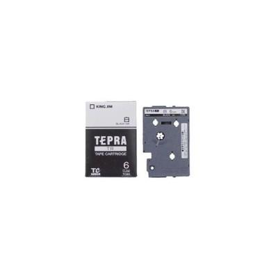 キングジム TC-6S (テプラ用テープカートリッジ  白 黒文字 6mm)