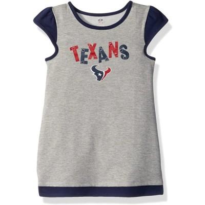 "NFL ガールズ 4〜6X ""First & Ten"" キャップスリーブドレス Kids Medium(5-6) グレイ 並行輸入品"