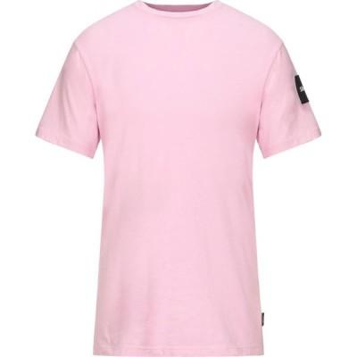 シューシャイン SHOESHINE メンズ Tシャツ トップス t-shirt Pink