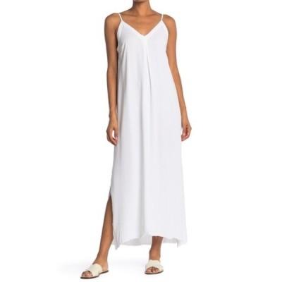 エヌエスエフ クロージング  レディース ワンピース トップス Antonia Side Slit Maxi Dress WHITE