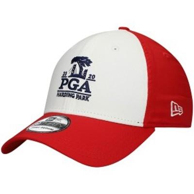 ニューエラ メンズ 帽子 アクセサリー 2020 PGA Championship New Era Quill Tech 39THIRTY Flex Hat White/Scarlet