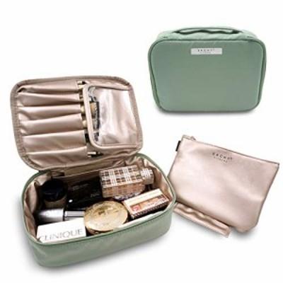 EACHY 化粧ポーチ 大容量 高品質 多機能 メイクポーチ コスメポーチ コンパクト アイシャドー ブラシ入れ付き バニティ 化粧道具入れ