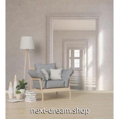 壁紙 奥行きのある立体空間デザイン ドア 扉 1ピース 1m2 サイズカスタマイズ可能 部屋 ショップ 店舗 m06161