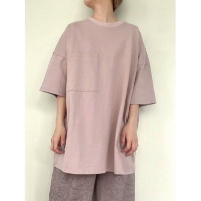 tシャツ Tシャツ ジェンダーレス刺繍トップス