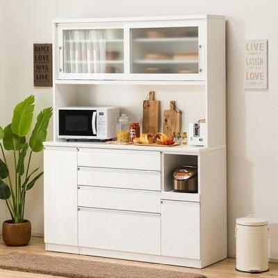 食器棚(レジューム 150TG-S WH/150SH-R WH) ニトリ 『配送員設置』 『5年保証』
