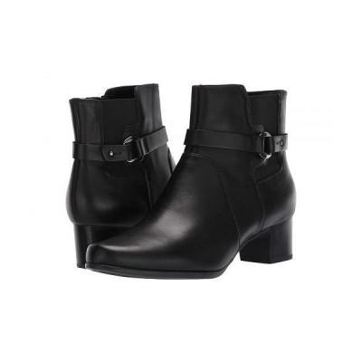 Clarks クラークス レディース 女性用 シューズ 靴 ブーツ アンクル ショートブーツ Un Damson Mid - Black Leather