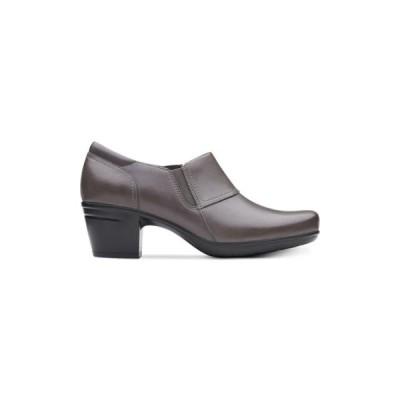 レディース 靴 コンフォートシューズ Clarks Womens Emslie Craft Leather Almond Toe Clogs