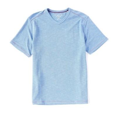トッミーバハマ メンズ Tシャツ トップス Tropicool Paradise Short-Sleeve V-Neck Tee Turkish Sea