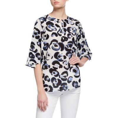 ラファイエットワンフォーエイト レディース シャツ トップス Barker Painterly Animal Print Silk Blouse