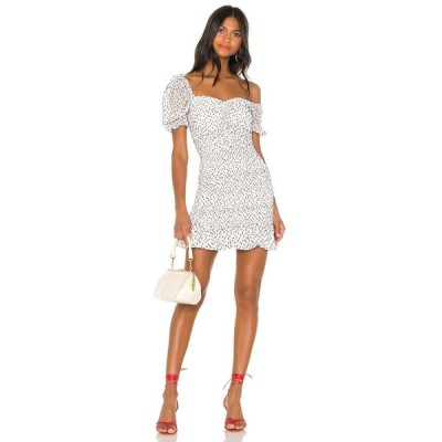 ハウスオブハーロウ1960 House of Harlow 1960 レディース ワンピース ミニ丈 ワンピース・ドレス X REVOLVE Fleur Mini Dress White/Navy