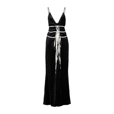 BROCK COLLECTION ロングワンピース&ドレス ブラック 2 レーヨン 100% ロングワンピース&ドレス