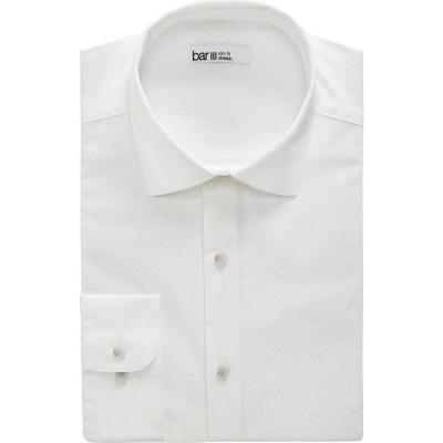 バースリー Bar III メンズ シャツ トップス slim-fit performance stretch tonal coral-print dress shirt White