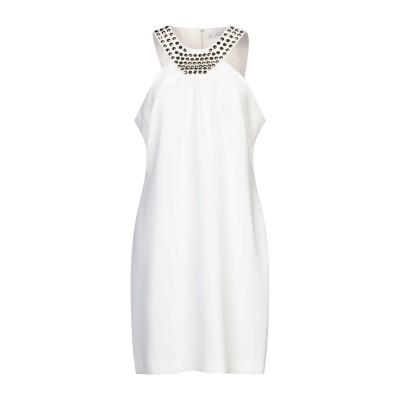 VERSACE COLLECTION ミニワンピース&ドレス ホワイト 46 ポリエステル 100% / コットン / ポリウレタン ミニワンピース