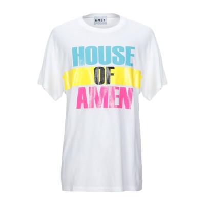 .AMEN. T シャツ ホワイト XXS コットン 100% T シャツ
