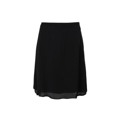 2ND DAY ひざ丈スカート ブラック 38 レーヨン 100% ひざ丈スカート