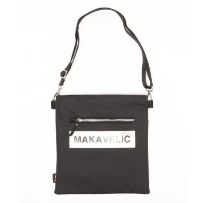 """NO WAY / """"MAKAVELIC"""" BOX-LOGO SHOULDER BAG MEN バッグ > ショルダーバッグ"""