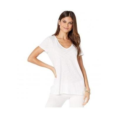 Lilly Pulitzer リリーピューリッツァー レディース 女性用 ファッション Tシャツ Etta Top - Resort White